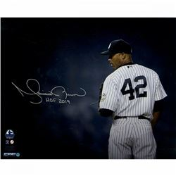 Mariano Rivera Signed New York Yankees  Stare Down  16x20 Photo Inscribed  HOF 2019  (Steiner COA)