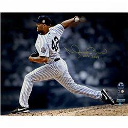 Mariano Rivera Signed New York Yankees  Pitching  16x20 Photo Inscribed  HOF 2019  (Steiner COA)
