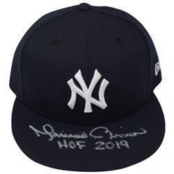 Mariano Rivera Signed New York Yankees  New Era Snapback Hat Inscribed  HOF 2019  (Steiner COA)