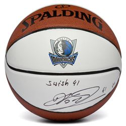 "Dirk Nowitzki Signed LE Dallas Mavericks Logo Basketball Inscribed ""Swish 41"" (Fanatics Hologram)"