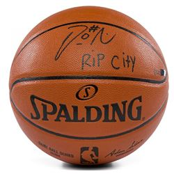 "Damian Lillard Signed LE NBA Game Ball Series Basketball Inscribed ""RIP City"" (Panini COA)"