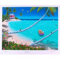 "Dan Mackin - ""Heaven"" Signed Limited Edition 20x24 Fine Art Giclee #/275 (Mackin COA  PA LOA)"