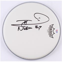 "Nicko McBrain Signed 10.5"" Drum Head Inscribed ""2017"" (PSA COA)"