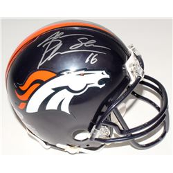 Jake Plummer Signed Denver Broncos Mini Helmet (Beckett COA)