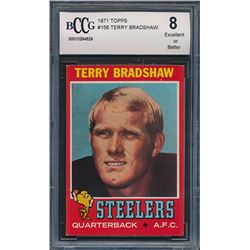 1971 Topps #156 Terry Bradshaw RC (BCCG 8)
