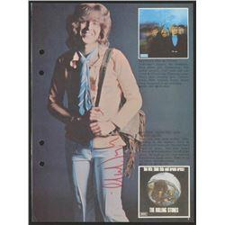 Mick Taylor Signed 6x9 Photo (JSA ALOA)