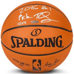 """Ben Simmons Signed LE Official NBA Game Ball Inscribed """"2016 #1 Pick"""" (UDA COA)"""