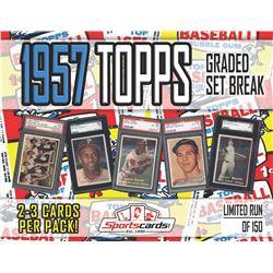 1957 TOPPS BASEBALL GRADED SET BREAK! - Mystery Box - (2 or 3) GRADED Cards Per Pack!