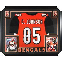 Chad Johnson Signed Cincinatti Bengals 35x43 Custom Framed Jersey (Beckett COA)