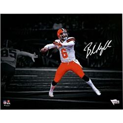 "Baker Mayfield Signed Cleveland Browns ""Spotlight"" 11x14 Photo (Fanatics Hologram)"