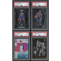 Lot of (4) PSA Graded 9 Markelle Fultz Rookie Cards with 2017-18 Panini Prizm #1, 2017-18 Select #68