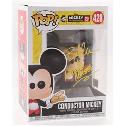 "Bret Iwan Signed ""Mickey: The True Original"" Conductor Mickey #428 Funko Pop Vinyl Figure Inscribed"