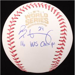 "Rob Zastryzny Signed 2016 Official World Series Baseball Inscribed ""16 WS Champs""  (JSA COA)"