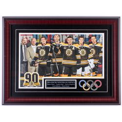 "Boston Bruins ""2014 Sochi Winter Olympics"" 17x23 Custom Framed Photo Display Signed by (5) with Zden"