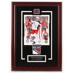 Chris Kreider Signed New York Rangers 17x23 Custom Framed Photo Display (Kreider Hologram)