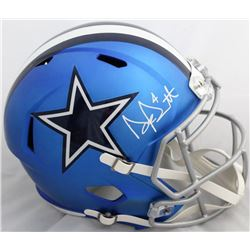 Dak Prescott Signed Cowboys Blaze Full-Size Speed Helmet (JSA COA  Dak Prescott Hologram)