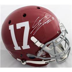 Calvin Ridley Signed Alabama Crimson Tide Full-Size Authentic Helmet (JSA COA)