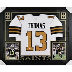 Michael Thomas Signed New Orleans Saints 35x43 Custom Framed Jersey (JSA COA)