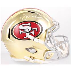 Joe Montana Signed San Francisco 49ers Full-Size Chrome Speed Helmet (Beckett COA)