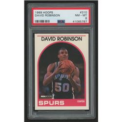 1989-90 Hoops #310 David Robinson In Action (PSA 8)