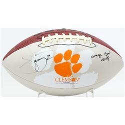 "Sammy Watkins Signed Clemson Tigers Logo Football Inscribed ""Orange Bowl MVP"" (JSA COA)"