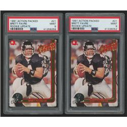 Lot of (2) 1991 Action Packed Rookie Update #21 Brett Favre