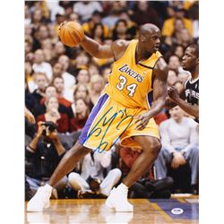 Shaquille O'Neal Signed Los Angeles Lakers 16x20 Photo (PSA COA)