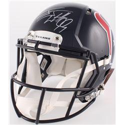 J.J. Watt Signed Houston Texans Full-Size Authentic On-Field Speed Helmet (JSA COA)