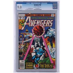 "1978 ""The Avengers"" #169 Marvel Comic Book (CGC 9)"