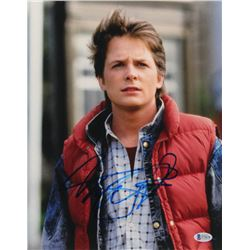 "Michael J. Fox Signed ""Back to the Future"" 11x14 Photo (Beckett COA)"