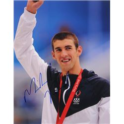 Michael Phelps Signed 11x14 Photo (PSA COA)
