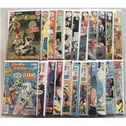 Lot of (22) 1972-1983 DC Wonder Woman Comic Books
