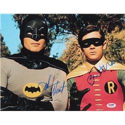 "Adam West  Burt Ward Signed ""Batman"" 11x14 Photo Inscribed ""Robin"" (PSA COA)"