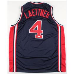 Christian Laettner Signed Team USA Jersey (JSA COA)