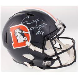 Courtland Sutton Signed Denver Broncos Color Rush Full-Size Speed Helmet (Beckett COA)