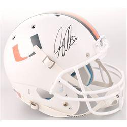 Greg Olsen Signed Miami Hurricanes Full-Size Helmet (Radtke COA)