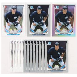 Lot of (16) 2014 Bowman Draft Top Prospects Aaron Judge Baseball Cards with (6) #TP39, (9) Chrome #C