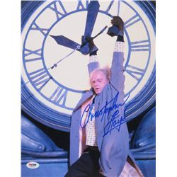 "Christopher Lloyd Signed ""Back to the Future"" 11x14 Photo (PSA COA)"