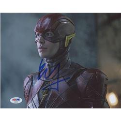 "Ezra Miller Signed ""The Flash"" 8x10 Photo (PSA Hologram)"