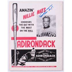 Willie Mays  Al Downing Signed 1964 Baseball Review Magazine (JSA COA)