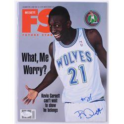 Kevin Garnett Signed 1995 Beckett Future Stars Magazine (JSA COA)