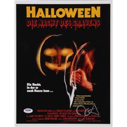 "John Carpenter Signed ""Halloween"" 11x14 Photo Inscribed ""The Shape"" (PSA COA)"