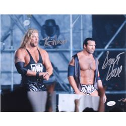 Kevin Nash  Scott Hall Signed WWE 11x14 Photo (JSA COA)