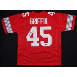 "Archie Griffin Signed Ohio State Buckeyes Jersey Inscribed ""H.T. 1974/75"" (Radtke COA)"