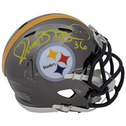 Jerome Bettis Signed Pittsburgh Steelers Chrome Mini Helmet (Fanatics Hologram)