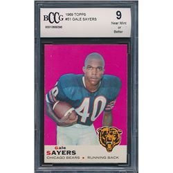 1969 Topps #51 Gale Sayers (BCCG 9)