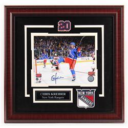 Chris Kreider Signed New York Rangers 18.5x19 Custom Framed Photo Display (Your Sports Memorabilia H