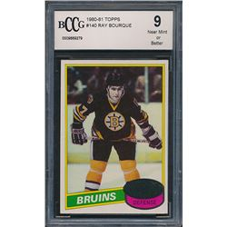 1980-81 Topps #140 Ray Bourque RC (BCCG 9)