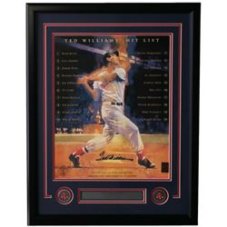 Ted Williams Signed Boston Red Sox 22x30 Custom Framed Photo Display (Williams Hologram)