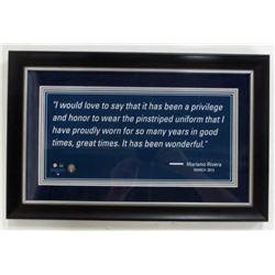 Mariano Rivera New York Yankees Quote 12x18 Custom Framed Photo Display